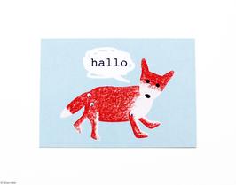 """Postkarte """"Fuchs"""""""
