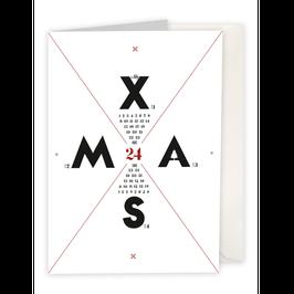 """Klappkarte """"X-MAS"""""""