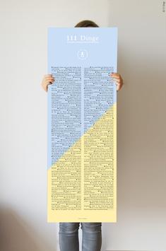 """Plakat """"111 Dinge für frischgebackene Eltern"""""""