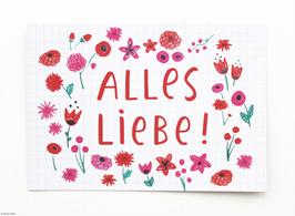 "Postkarte ""Alles Liebe!"""