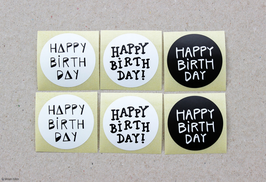 "Sticker-Set ""Happy Birthday"""
