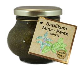 Basilikum-Minzpaste -erfrischend und würzig-