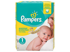 Pampers Windeln Gr. 1 New Born 2-5 kg 3 Für 2