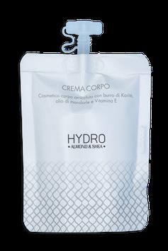 "Hydro Body Cream with ""Shea Butter, Vitamin E and Almonds"" Doypack 30ml."
