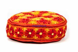 Indian Flowers Poef Oranje