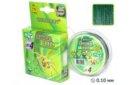 """Плетенка """"SPIDER GREEN"""" 100 м / 0.14 мм"""