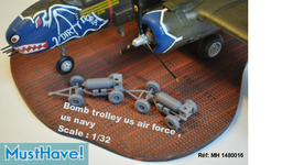 Bombe trolley Us Force et Us Navy 1/32 MustHave