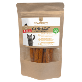 SPARROW PET CANNACAT CHICKEN STICKS MIT CBD