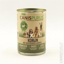 Canis Purus Blik Konijn met rijstvlokken & wortel