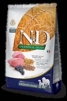 Farmina N&D Ancestral Grain Lamm, Dinkel, Hafer & Heidelbeere