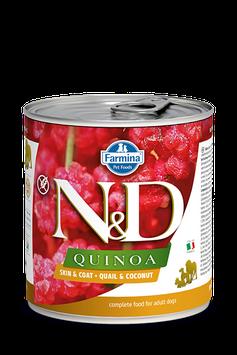 Farmina N&D Quinoa Skin + Coat Wachtel