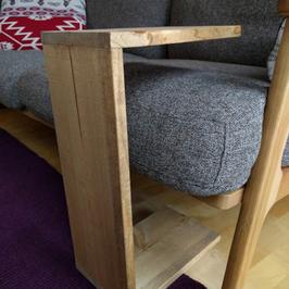 無垢のサイドテーブル シングル