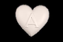 """3527 Cuore gioie&dolori cm 15x15x3,5 h """"un amore con la A"""""""