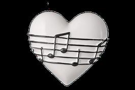 """3520 Cuore gioie&dolori cm 15x15x3,5 h """"musica per il mio cuore"""""""