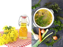 Rapsöl oder Gemüsefonds