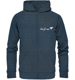 be free Logo – Unisex Zipper melange navy