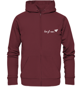 be free Logo - Unisex Zipper burgundy