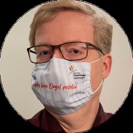 """A0) Mund-Nasen-Bedeckung """"Ich bin Orgel positiv"""""""