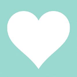 Herz aqua oder grau