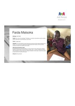 Sponsorship Faida Matsoka