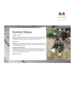 Sponsorship Kombo Malau
