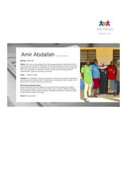 Sponsorship Amir Abdallah