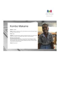 Sponsorship Kombo Makame