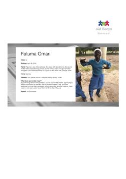 Sponsorship Fatuma Omari