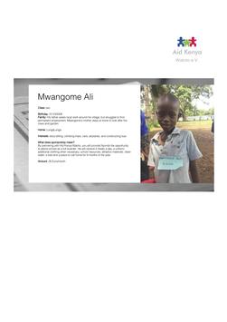 Sponsorship Mwangome Ali