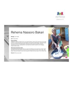 Sponsorship Rehema Nassoro Bakari