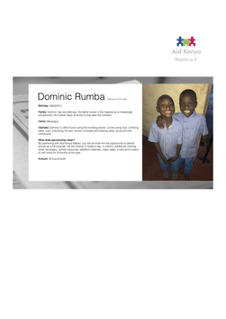 Sponsorship Dominic Rumba