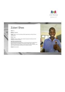 Sponsorship Zuberi Shee