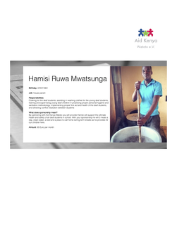 Sponsorship Hamisi Ruwa Mwatsunga