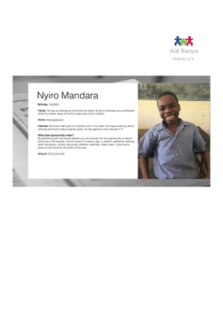 Sponsorship Nyiro Mandara