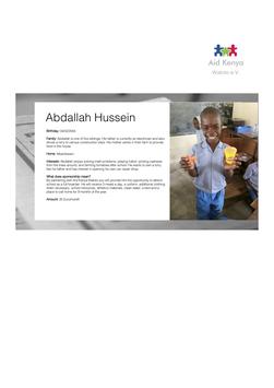 Sponsorship Abdallah Hussein