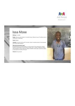 Sponsorship Issa Mzee