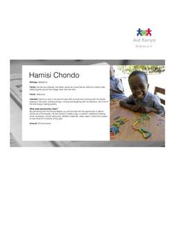 Sponsorship Hamisi Chondo