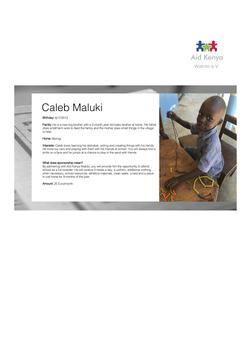 Sponsorship Caleb Maluki
