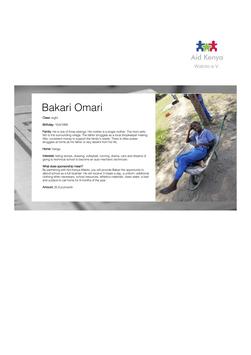 Sponsorship Bakari Omari