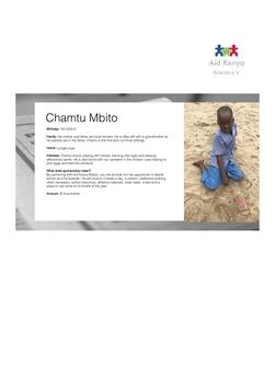 Sponsorship Chamtu Mbito