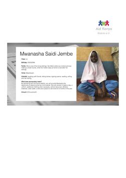Sponsorship Mwanasha Saidi Jembe
