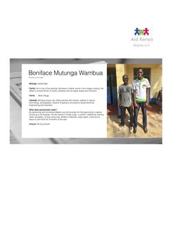 Sponsorship Boniface Mutunga Wambua