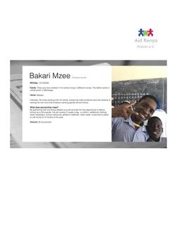 Sponsorship Bakari Mzee