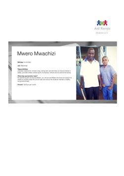 Sponsorship Mwero Mwachizi