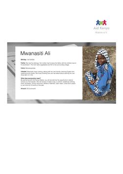 Sponsorship Mwanasiti Ali