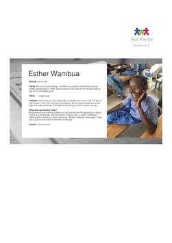 Sponsorship Esther Wambua