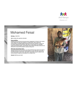 Sponsorship Mohamed Feisal