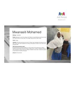 Sponsorship Mwanasiti Mohamed
