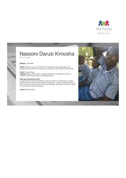 Sponsorship Nassoro Darusi Kimosha