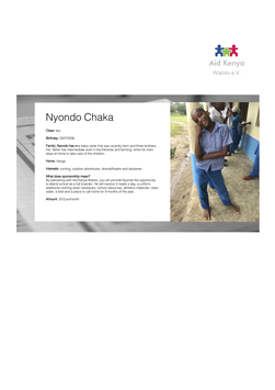 Sponsorship Nyondo Chaka